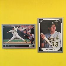 Jose Canseco A's  1991/1992 LEAF 2-Card Lot  NM-MT+