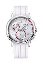 CK Calvin Klein Herrenchronograph Drive White Edelstahl Analog K1V27938