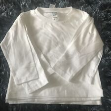 Precious Cargo size 2T Toddle Long Sleeve White Shirt Lot of 4 MINT