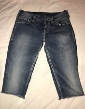 Silver Brand Jeans Co Suki Surplus Denim Blue Cut Off Shorts Women's Size 28