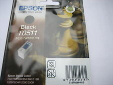 EPSON ORIGINAL S020189 black for Stylus color  800 850 1520 / T0511 OVP MHD2014