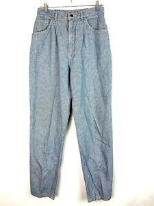 VTG LEE Women's Light Blue Denim High Rise Tapered Jeans Sz 29x29🔥