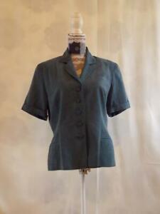 Monsoon Jacket Blazer size 14     Short sleeve  Turquoise