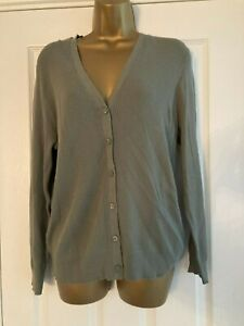 BNWT M&S Collection Khaki Button Up Ribbed Cardigan Size 20