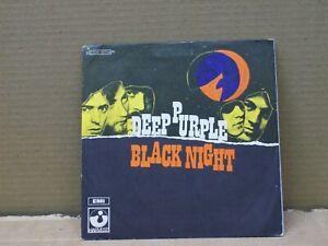 DEEP PURPLE- 45 GIRI -BLACK NIGHT- LIVING WRECK-----006-91611----EX/EX