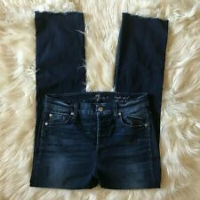 7 For All Mankind High Waist Vintage Straight Dark Wash Jeans Size 28
