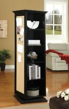Black Swivel Storage Cabinet With Cork Board and Mirror by Coaster 910083