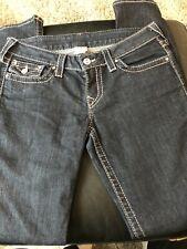 TRUE RELIGION Womens Dark Blue Low Rise Straight Leg RN#112790 Jeans Size 28