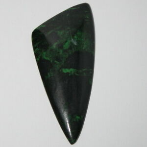 Uvarovite in chromite matrix cabochon, rare