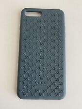 Gucci Case For Iphone 7 Plus 8 Plus Blue Rubber With Logo