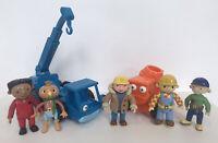 Bob the Builder Character Figures &Toys Bundle-Lofty-Muck-Spud-Wendy