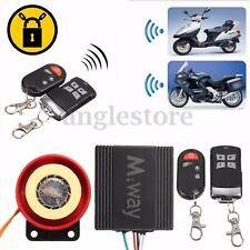 Motorcycle Scooter Anti-theft Burglar Alarm System Remote Control Immobiliser