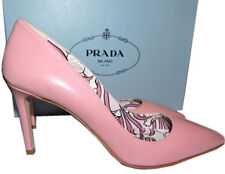 Prada Beige Pink Leather Classic Pointy Toe Pumps Shoes 39 New