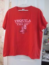 Gildan women's 2XL red t shirt Tequila makes my clothes fall off