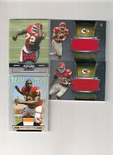 Jamaal Charles Bowman Sterling Game Used SP,Knile Davis,Glenn Dorsey Chiefs LOT