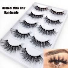 5 Pairs 3D Real Mink Hair Soft Long Thick Makeup Lashes False Eyelashes New