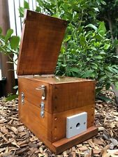 Stingless Native Bee Hive With Roof | Stained | OATH Hive With Perspex Window
