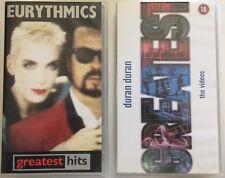 DURAN DURAN Greatest Hits - EURYTHMICS Annie Lennox The Videos *RARE* 2x VHS Lot