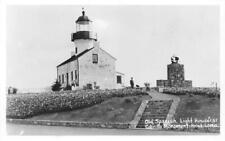 RPPC Old Spanish Lighthouse, Cabrillo Monument, Point Loma, CA Vintage Postcard