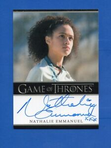 Game Of Thrones Nathalie Emmanuel Autograph Card