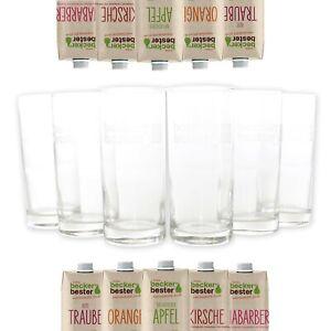 6x BECKERS BESTER Gläser Set 0,2l Saft Glas geeicht Wasser Trink Bar ~mn575 1044