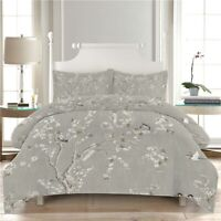 Wintersweet Flower 3D Quilt Duvet Doona Cover Set Single Double Queen King Print