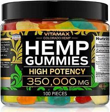 Hemp Gummies for Stress Relief - 350000mg - Gummy - Great for Stress, Insomnia &