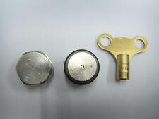 AK Chrome Radiateur Air Vent Plug + Découpage Bouchon + Chrome saignement Clé Set