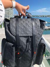 Louis Vuitton Virgil Abloh Christopher Monogram Black Backpack Leather Bag