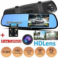 4.3'' HD Pantalla Monitor Espejo Dash Cámara de Marcha Atrás Vista Trasera Kit