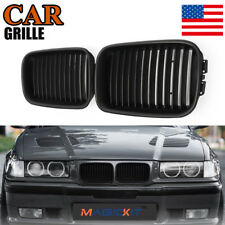 For 92-96 BMW M3 E36 Sedan Coupe Cabrio Compact M Look Kidney Grille Grill Black