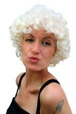 Perücke Damen Karneval Fasching Hollywood kurz Diva platinblond Marylin Locken