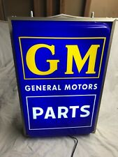 Large Chevrolet Gm Parts lighted dealership window display sign ok used car neon