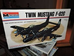MONOGRAM # 7501 1/72nd SCALE F-82G TWIN MUSTANG MODEL KIT new in the box