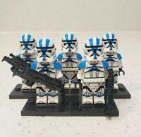 5 Custom 501st Legion Clone Trooper Minifigures Star Wars for Lego - US Seller