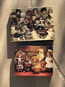 Lot Of 2 Vintage Springbok Toy Fancy Frilly Dolls Shop Jigsaw Puzzles Complete