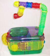 Kaytee Crittertrail One Level Cage Hamsters,Gerbils,Mice,Extra Tube,Petting Zone