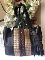 LUCKY BRAND EMBELLISH STUDS TOTE BAG PURSE   (PU800