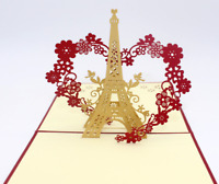 New Greeting Card 3D Eiffel Tower Birthday Thanksgiving Christmas Occasion 22