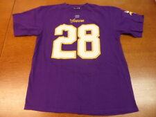 Purple NFL Team Apparel Minnesota Vikings Adrian Peterson Shirt Large L