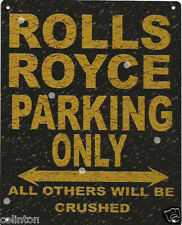 ROLLS ROYCE PARKING METAL SIGN RUSTIC VINTAGE STYLE6x8in 20x15cm garageART