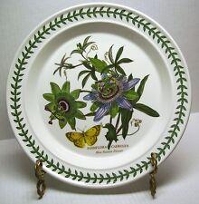 """10.5"""" DINNER PLATE BLUE PASSION FLOWER PORTMEIRION BOTANIC GARDEN 1972 CREST"""