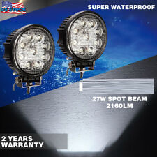 2x 27W 4.5inch LED WORK LIGHT Flood Lamp Offroad For SUV Jeep UTE 4WD Driving
