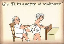 """AFTER 40 IT'S A MATTER OF MAINTENANCE 4x6"""" Funny Saying humor magnet wall sign"""