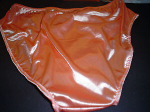 Mens Shiny Secret Satin Panty HI Cut Brief Custom Lined Color options  USA