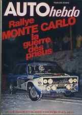 AUTO HEBDO n°199 du 24 Janvier 1980 MONTE CARLO SALON DE BRUXELLES