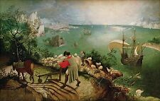 "Landscape With The Fall Of Icarus by Bruegel, 12""×18.75"", Giclee Canvas Print"