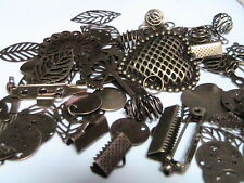 50g x Antique Bronze Random Mix Pendants Beads Findings Charms Jewellery S2