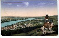 1924 Drachenburg Königswinter Rhein Blick alte Postkarte Ansichtskarte gelaufen