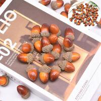 ARTIFICIAL PLANT NUTS HOME DECOR  KITCHEN OAK Craft FESTIVAL FAKE ACORNS 20PCS